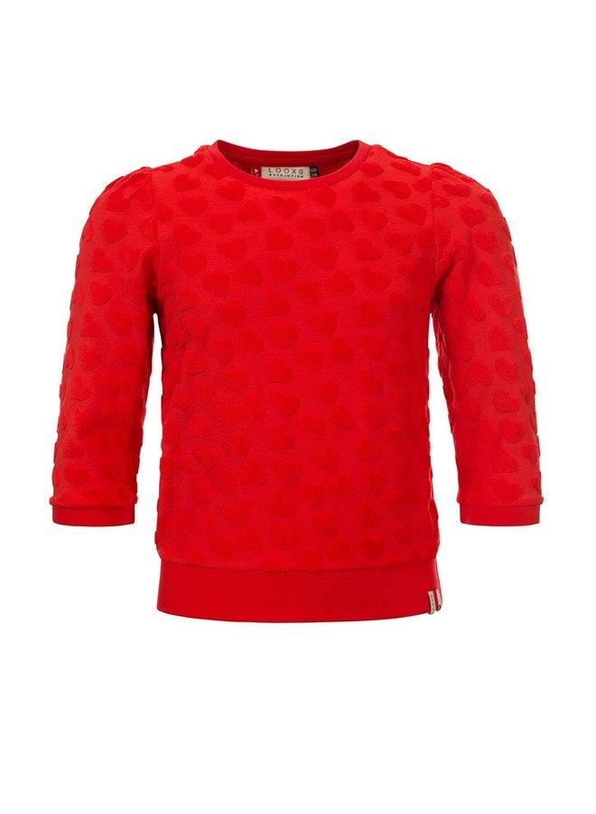 Little sweater 3/4 sleeve Red Apple