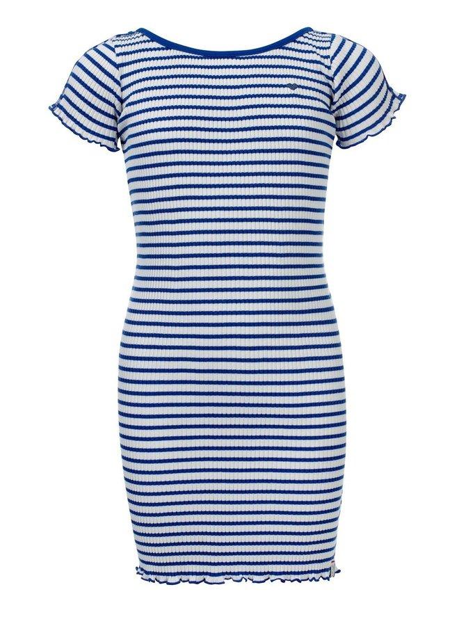 Little dress long Kobalt Stripe