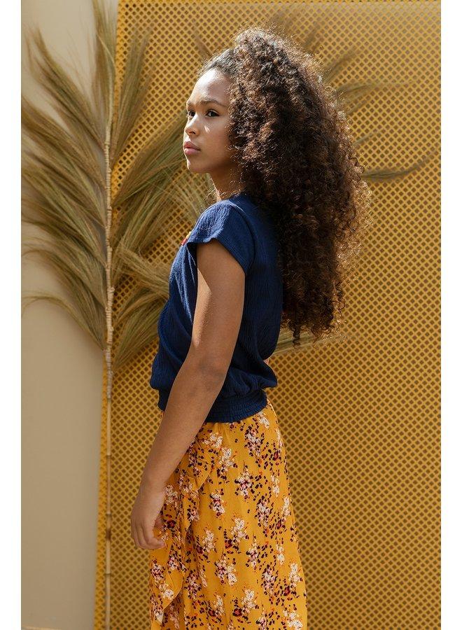 10Sixteen Woven printed long skirt Flora AO