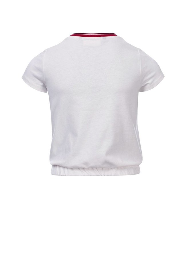 10Sixteen T-shirt White Lilly 100% Cotton
