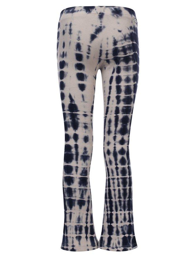 10Sixteen Rib Tie Dye Flare pants Y/D Stripe Mimosa