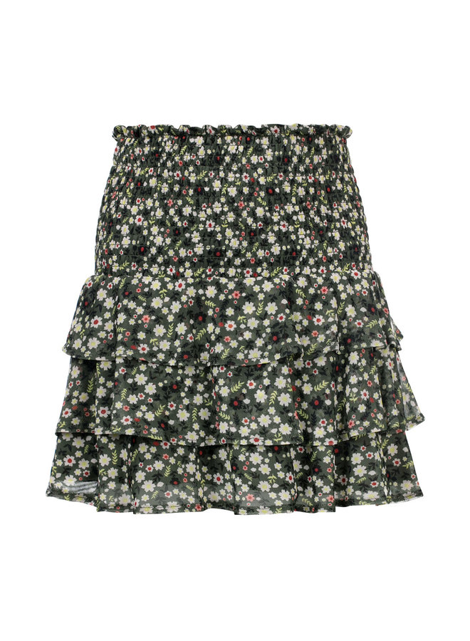 10Sixteen Printed mesh skirt Forrest Blossom