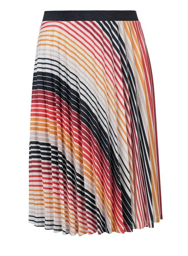 10Sixteen pleated skirt Gradient Stripe
