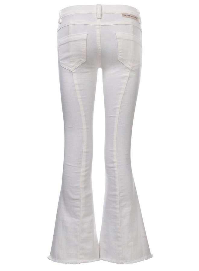 10Sixteen Flare pants White Lilly