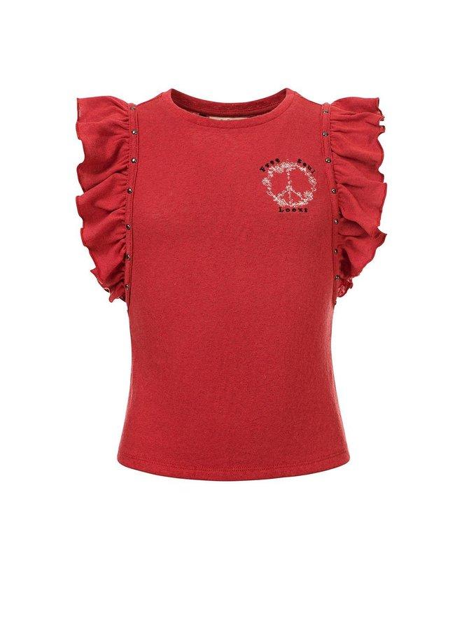 10Sixteen fancy T-shirt Blush