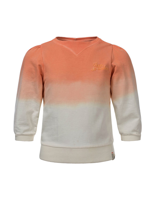 10Sixteen Dip dye Sweater Salmon