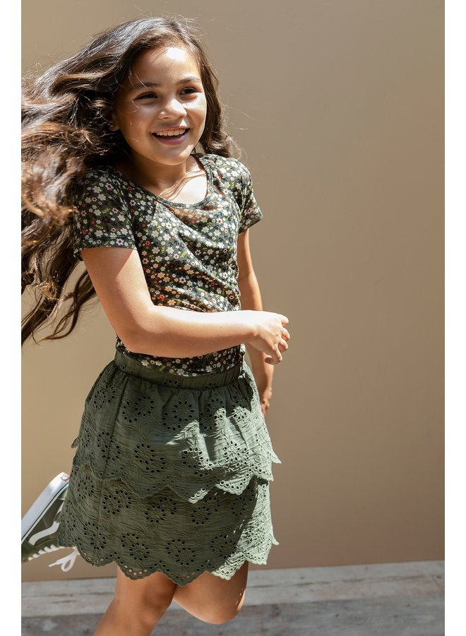 10Sixteen broidery skirt Forrest
