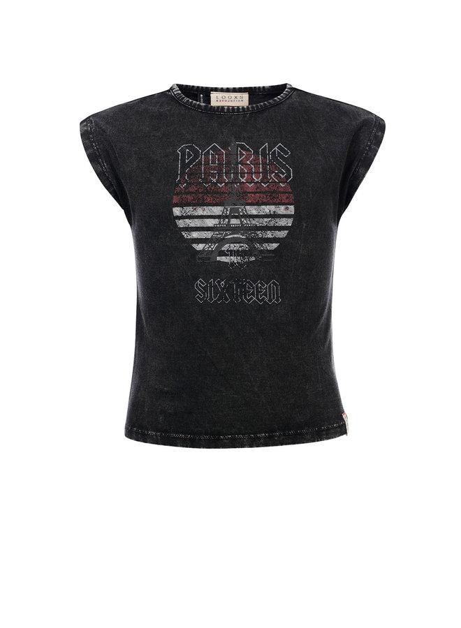 10Sixteen Acid wash T-shirt Acid Black