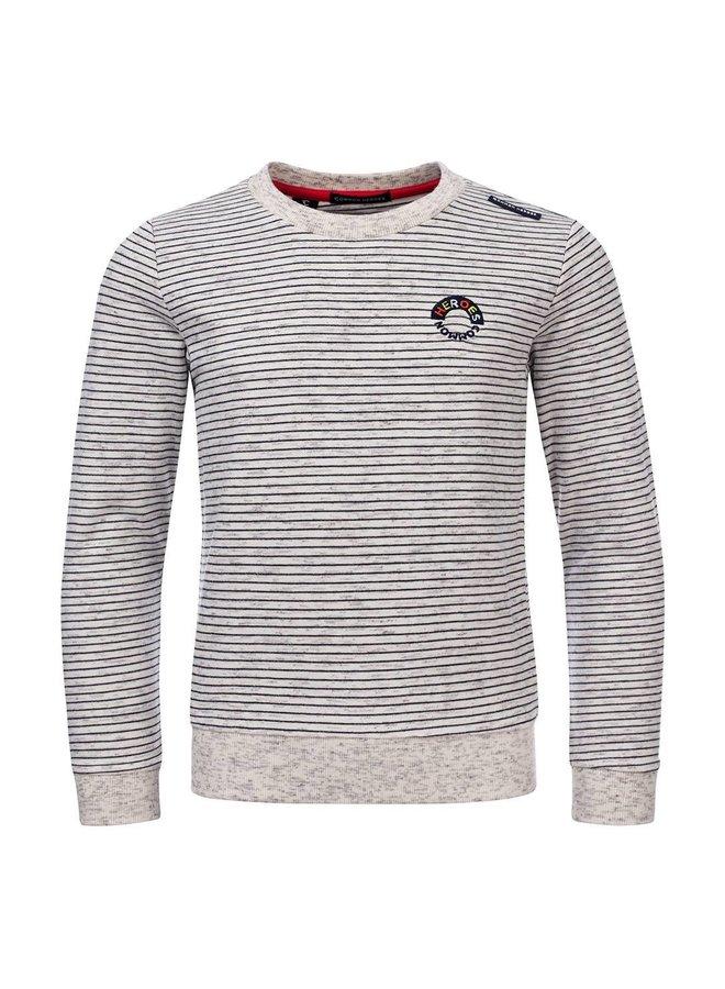 Cas Crewneck sweater IVORY MELEE