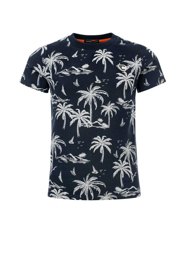 BINK T-shirt with lycra AO Island pr ISLAND PRINT