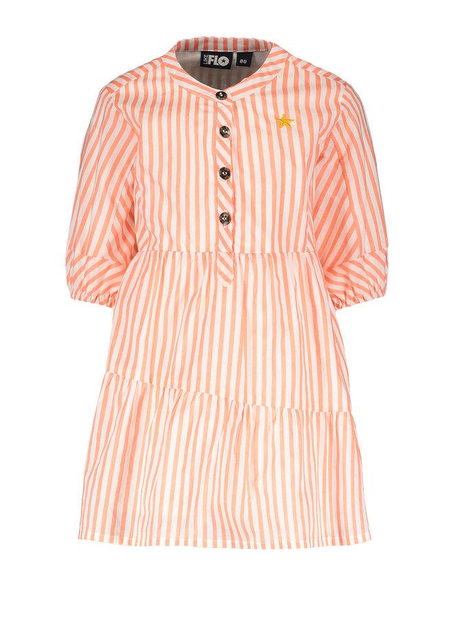Flo baby girls woven tuniek Neon stripe