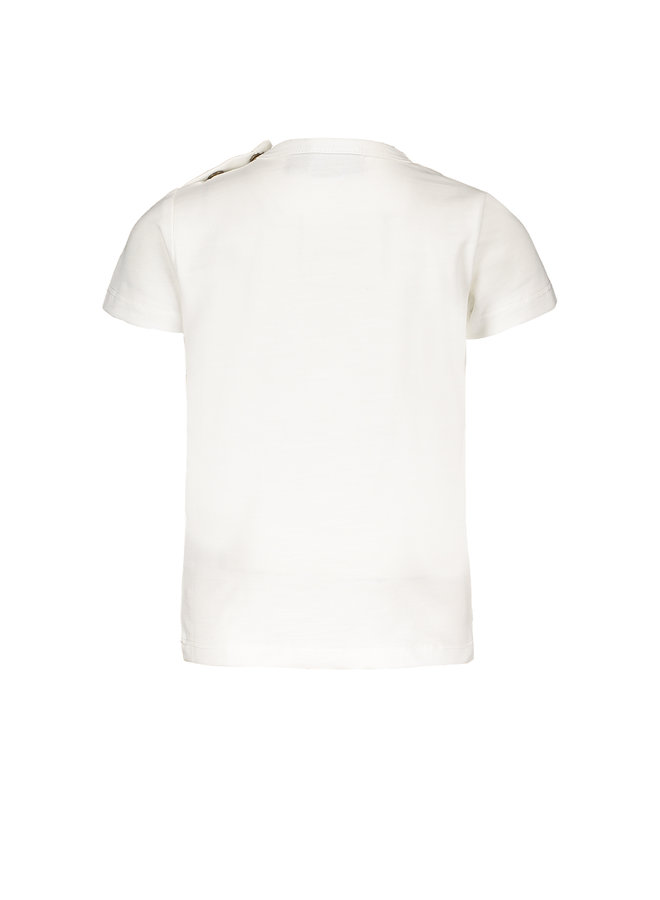 Flo baby boys jersey tee peddles Off white