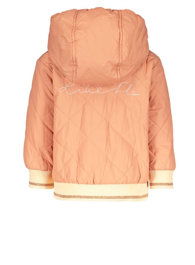 Flo baby girls hooded summer jacket Blush