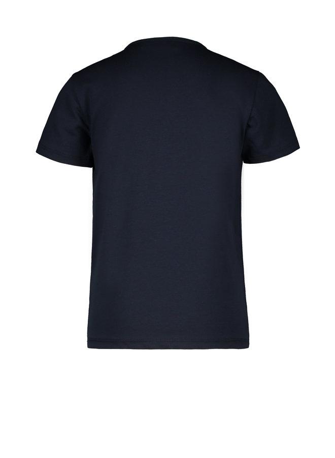 Flo boys jersey tee print Navy