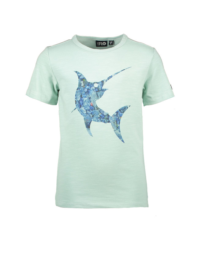 Flo boys jersey tee shark Mint