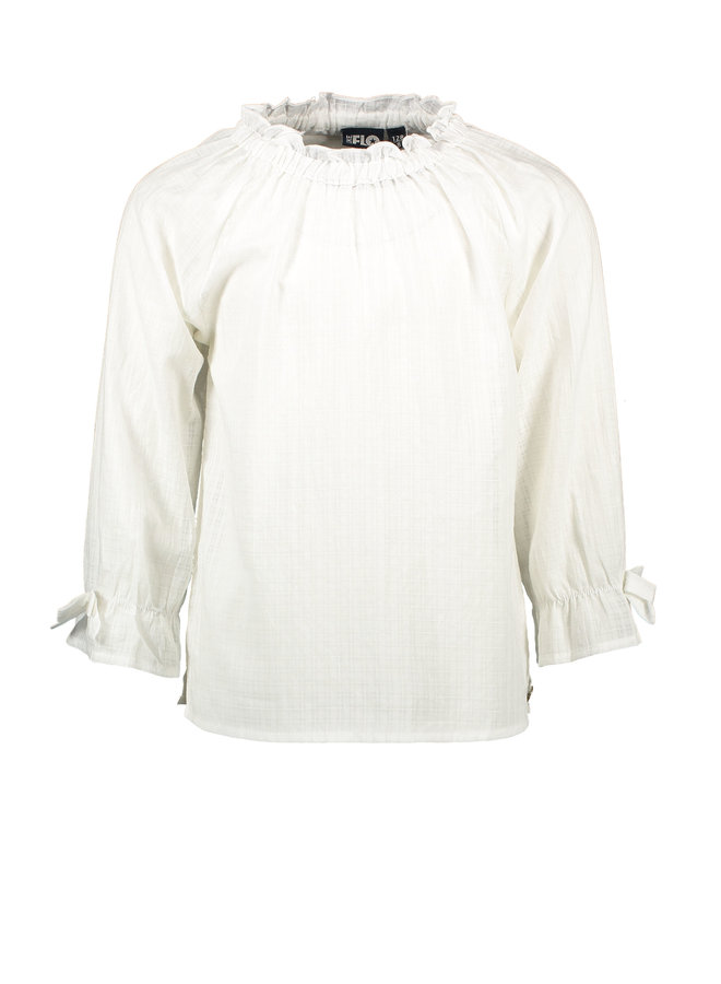 Flo girls woven ls blouse Off white