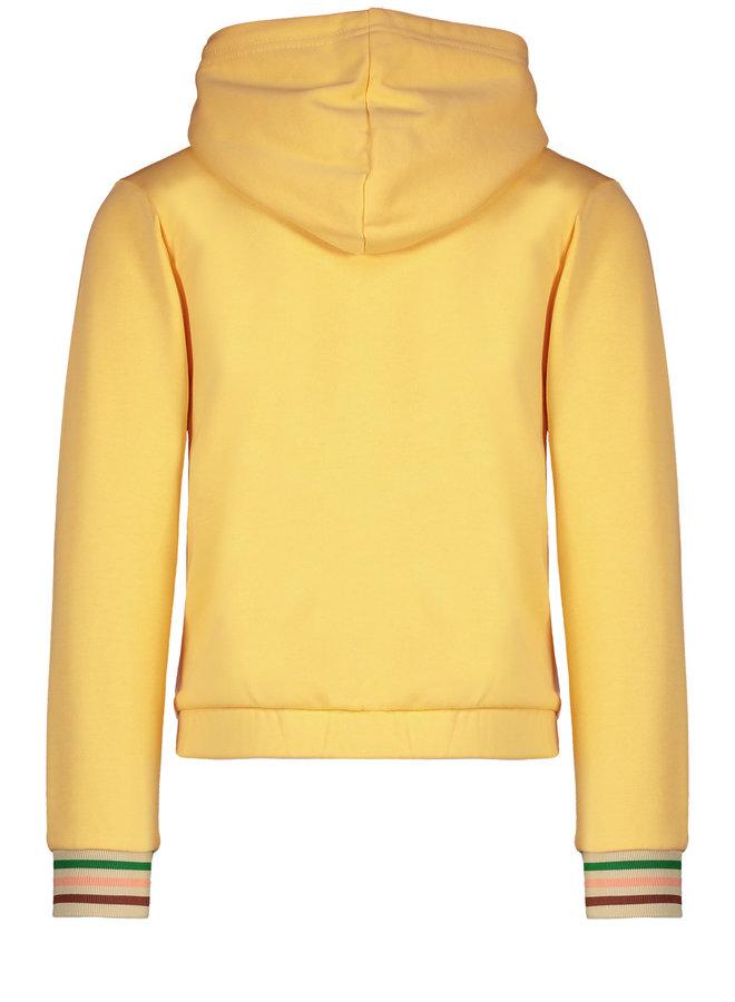 Flo girls hooded sweat cardigan Honey