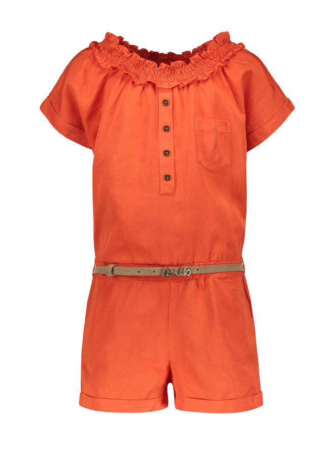 Flo girls tencell jumpsuit Orange