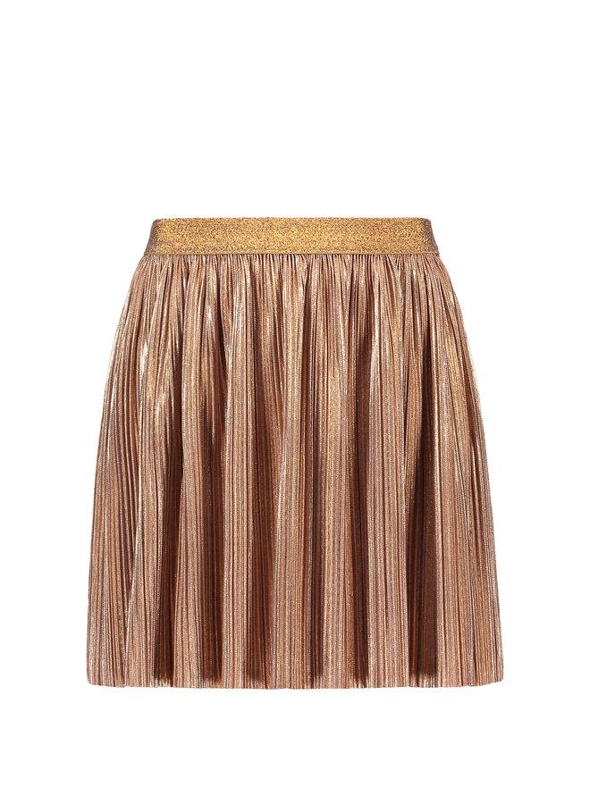 Flo girls rose gold plisse skirt Rose gold