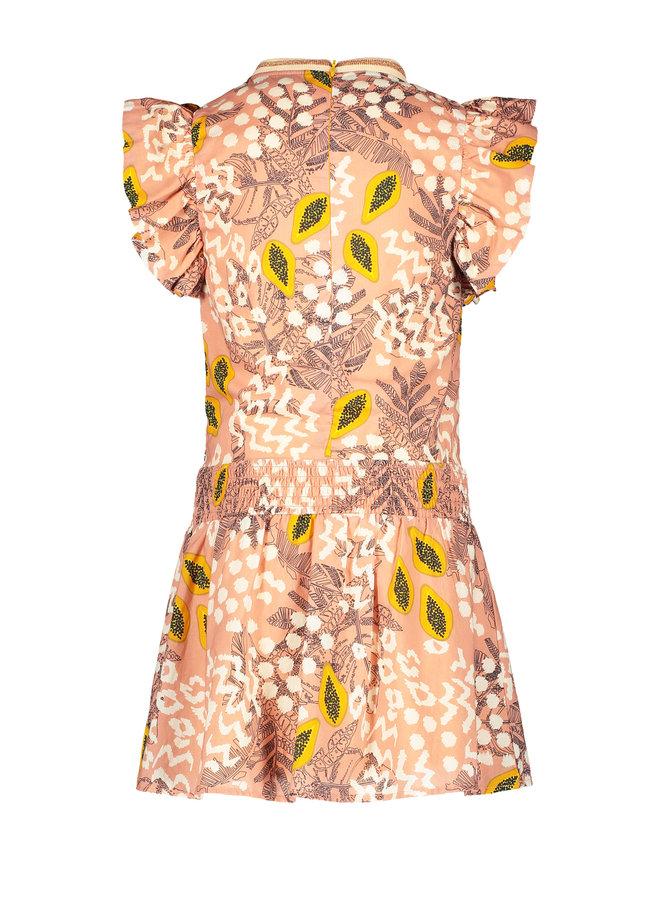Flo girls AO woven dress Pink papaya