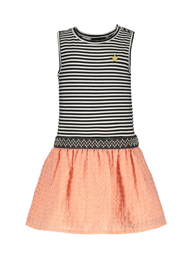 Flo baby girls 2pc dress knot top Lt pink
