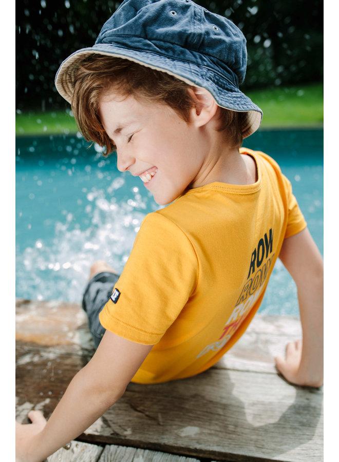 Flo baby boys jersey tee chestpocket Sunflower