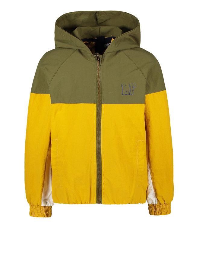 Flo boys hooded jacket colourblock Army