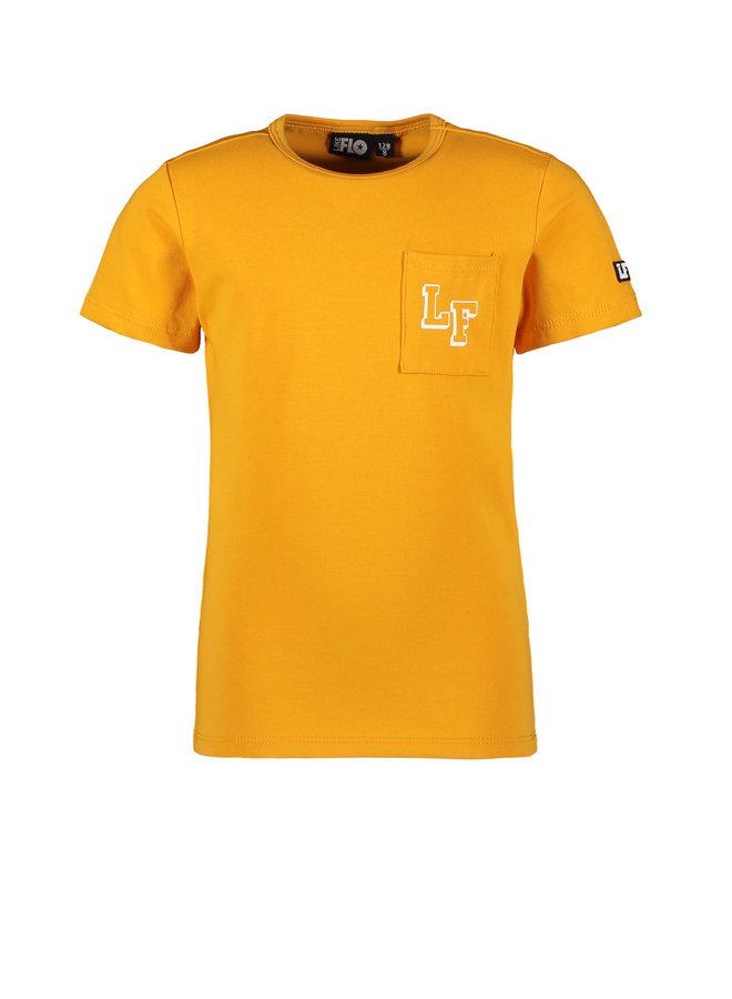 Flo boys jersey tee chestpocket Sunflower
