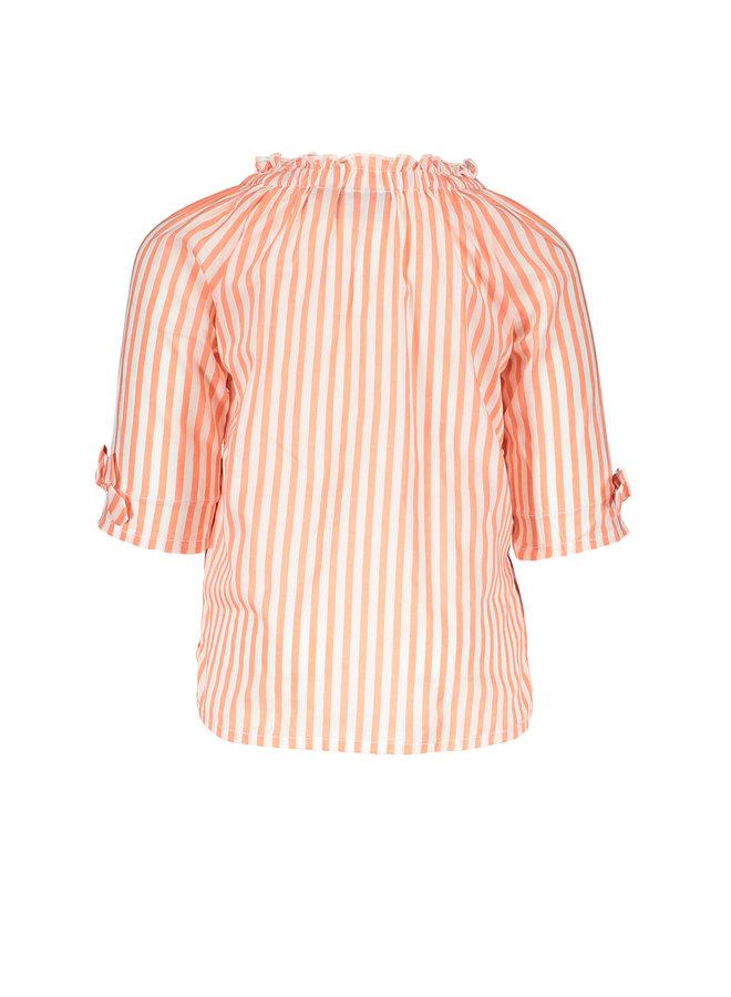 Flo baby girls woven ls blouse Neon stripe
