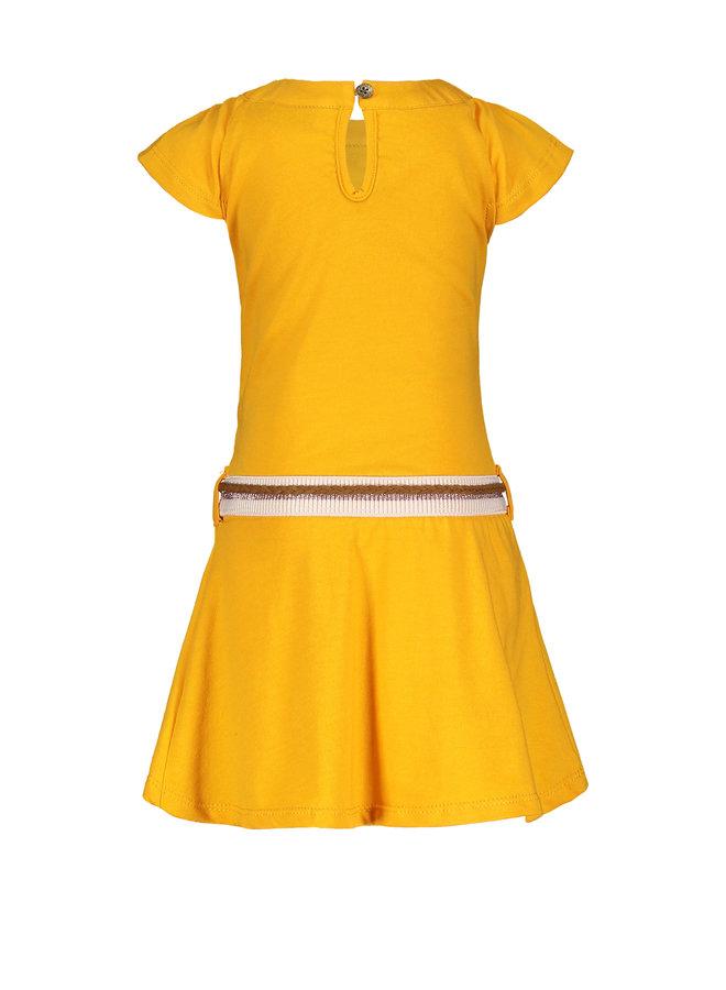 Flo baby girls jersey dress Sunflower