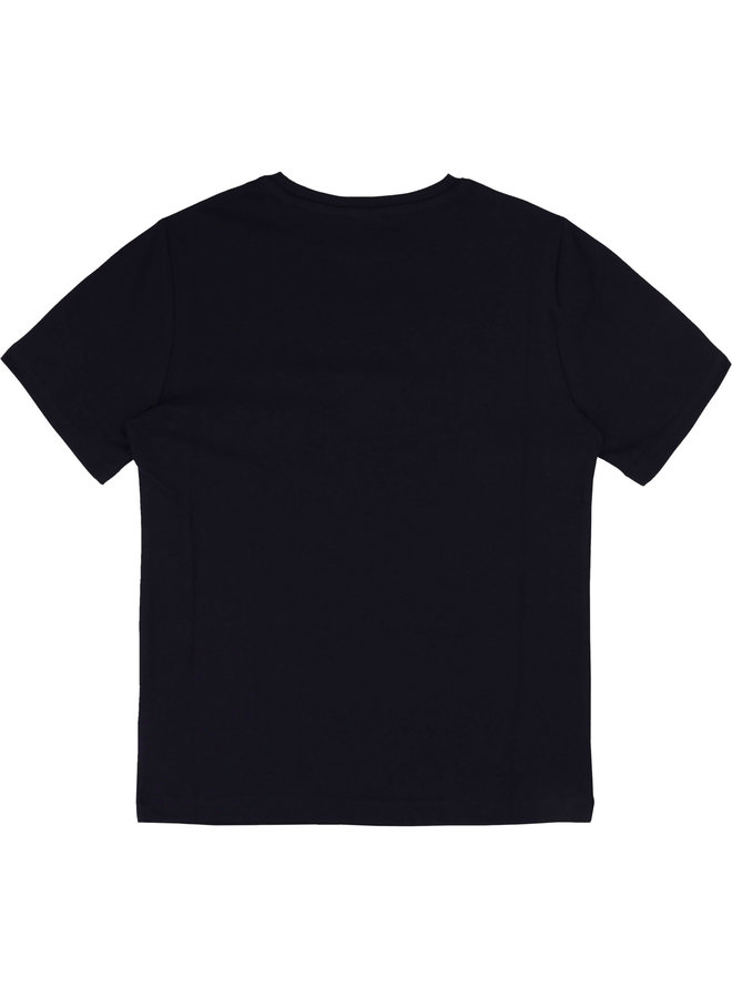BOSS Jongens T-Shirt Korte Mouwen Marine J25P13