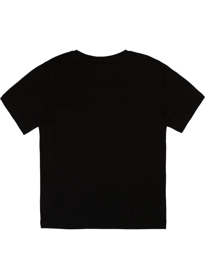 BOSS Jongens T-Shirt Korte Mouwen Zwart J25P13
