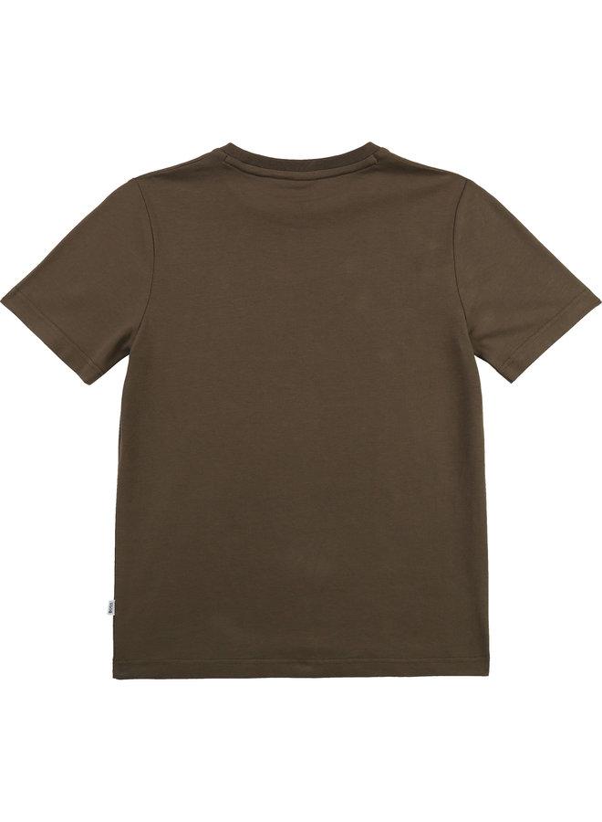 T-Shirt Korte Mouwen Khaki