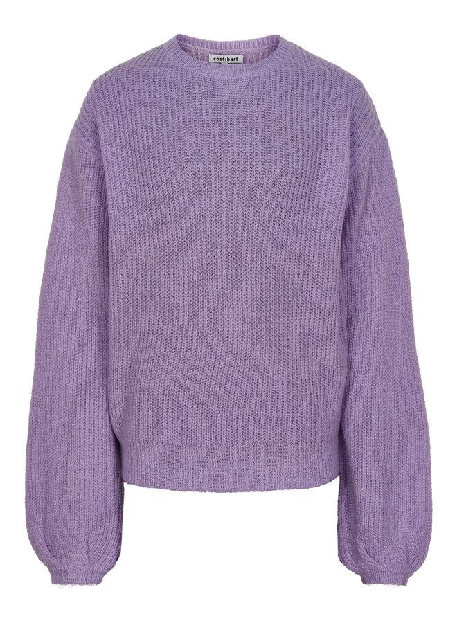 Monique Ls Pullover Pastel Lilac