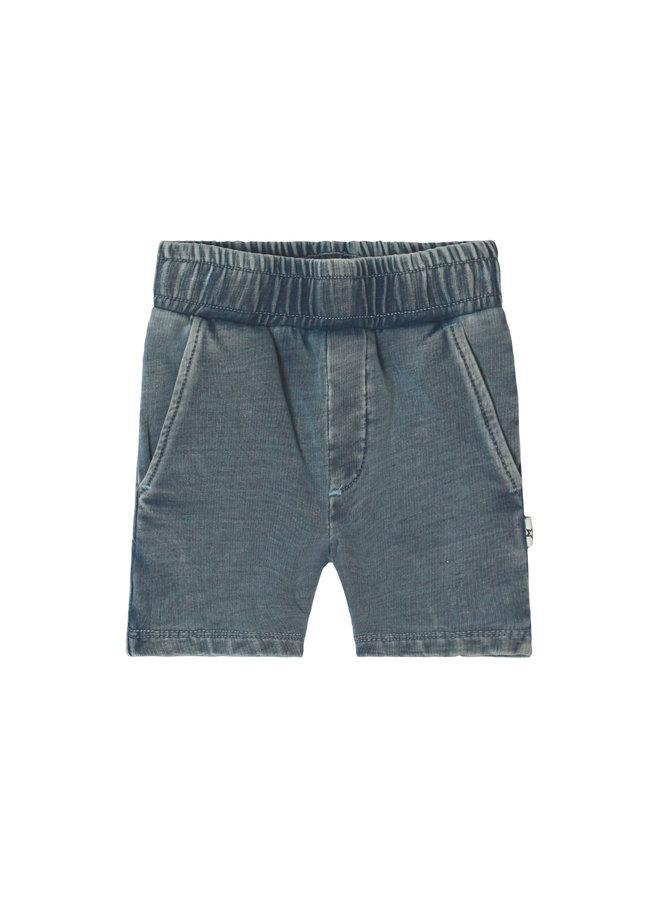 Knitted Denim | Long Short Denim Blue