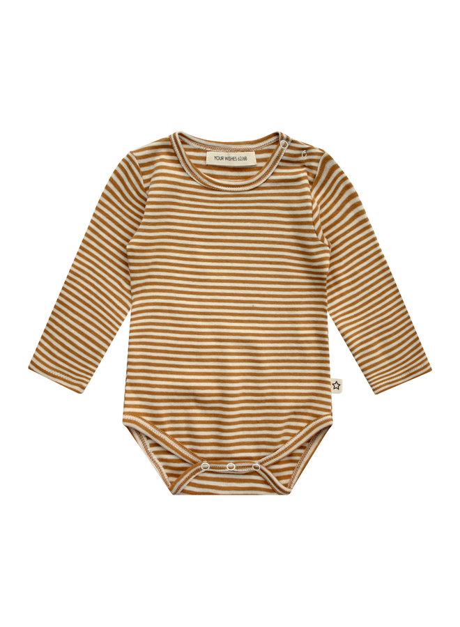 Gold Stripes | Longsleeve Romper