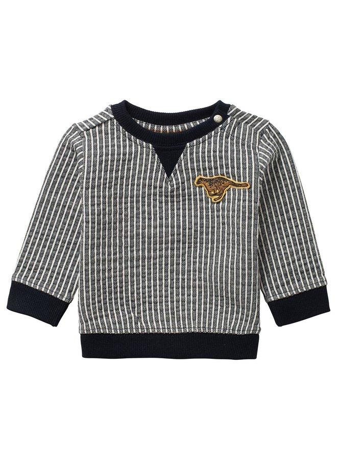 B y/d stripe Sweater Toft YD Str Dark Sapphire