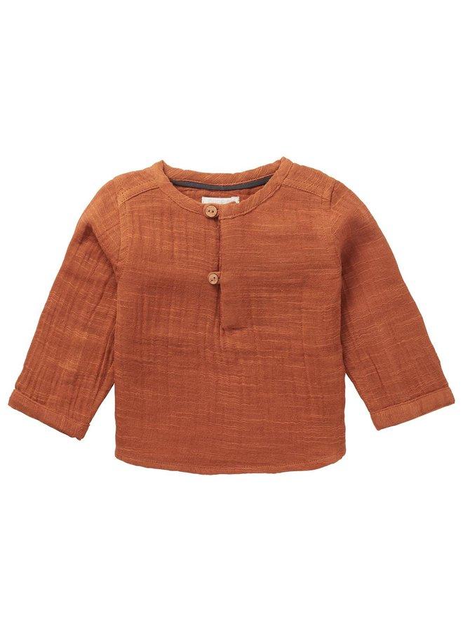 U blouse LS Swinton Roasted Pecan