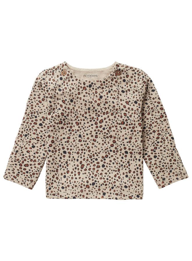 U T-shirt LS AOP Stanley Sand Melange