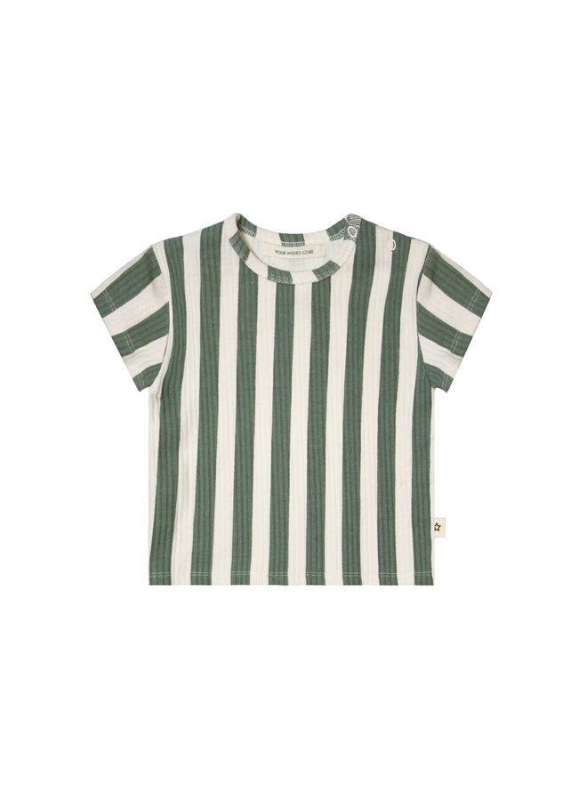 Bold Stripes | Loose Tee Old Green