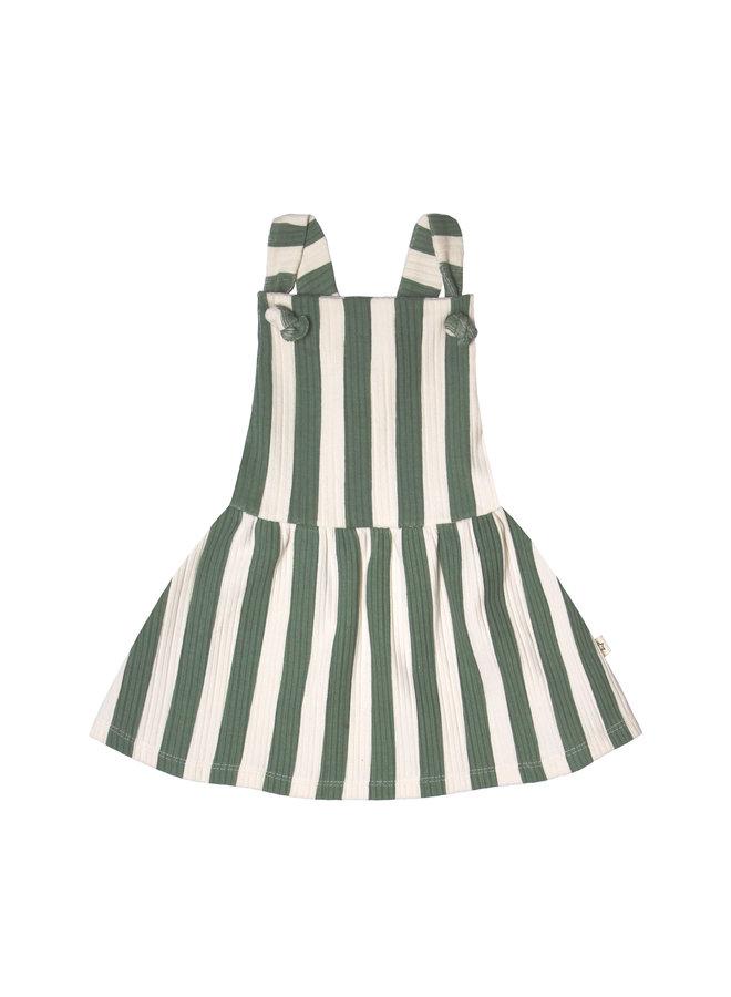 Bold Stripes | Dungaree Dress