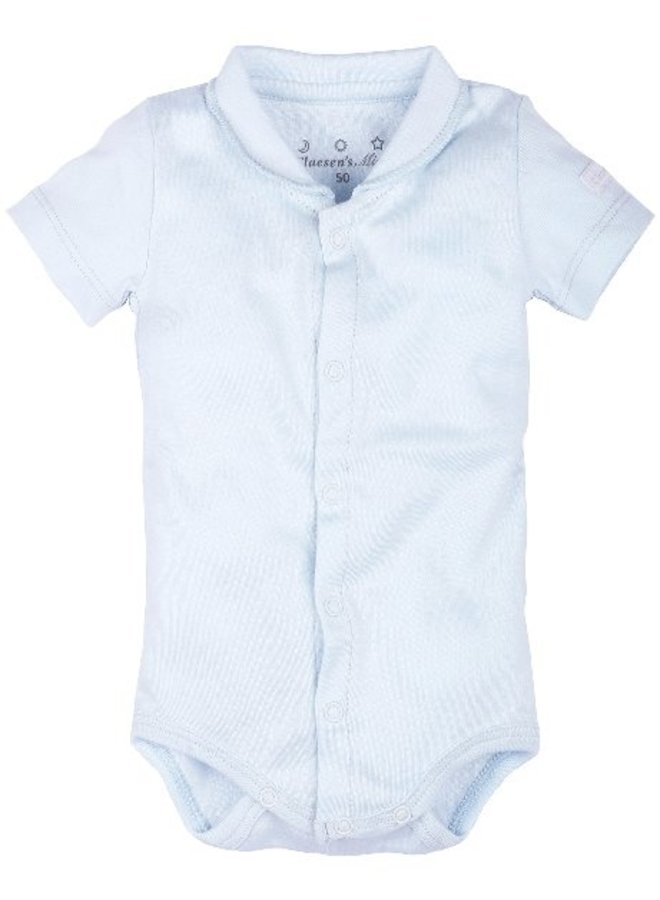 Baby Onesie Ss With Collar - Baby Blue - Cl 60