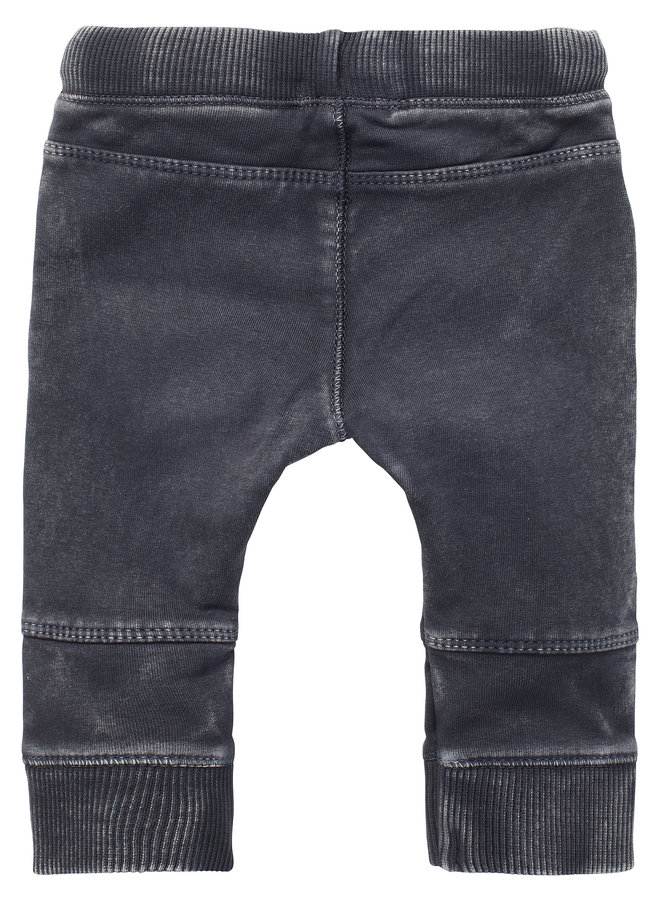 Pants slim fit sweat-track Troia Ebony