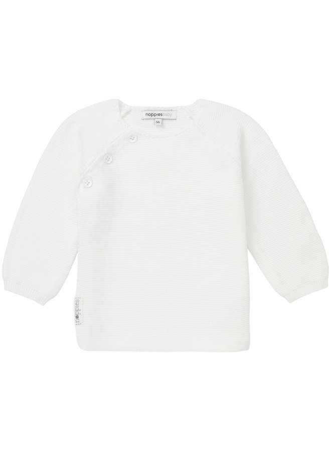 Cardigan Knit ls Pino White