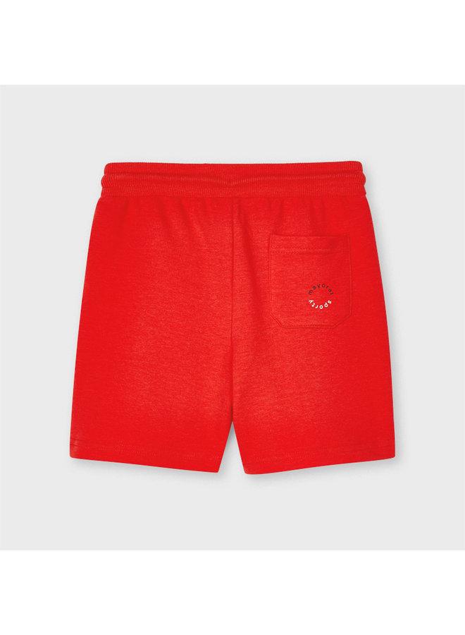 Jongens Basic fleece shorts Cyber Red