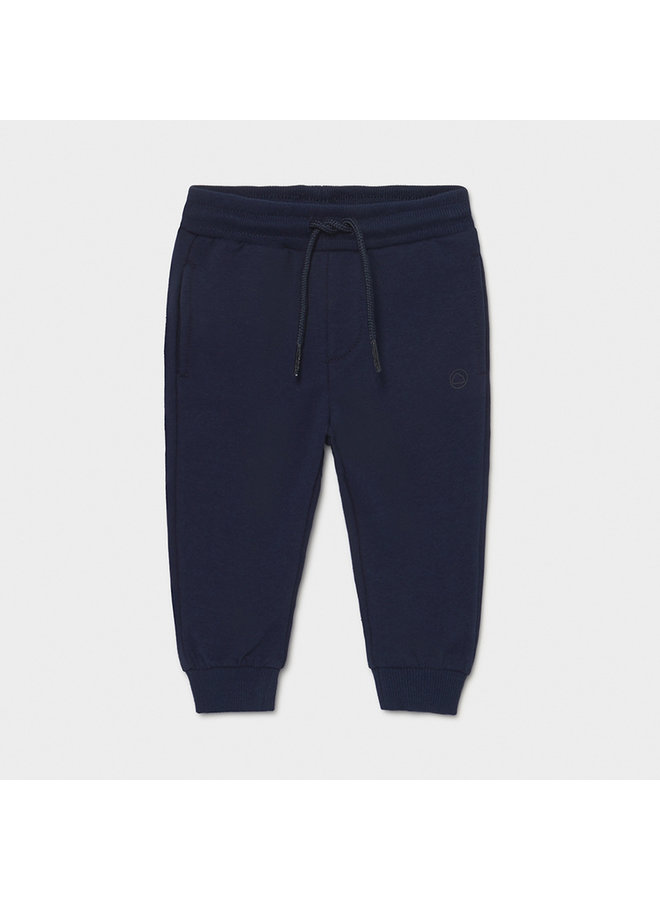 Basic cuffed fleece trousers Nautical