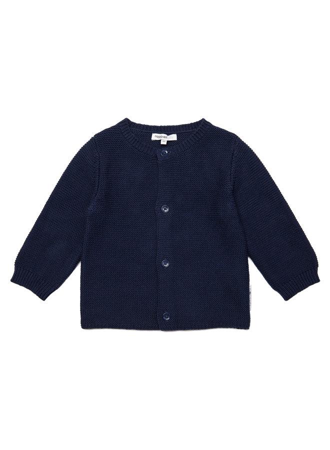 B Cardigan Knit ls Jos Navy