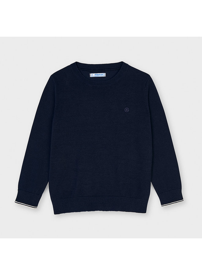 Basic crew neck sweater Navy