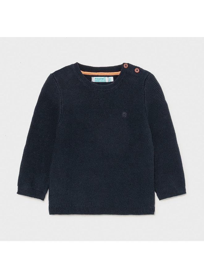 Basic cotton sweater Navy