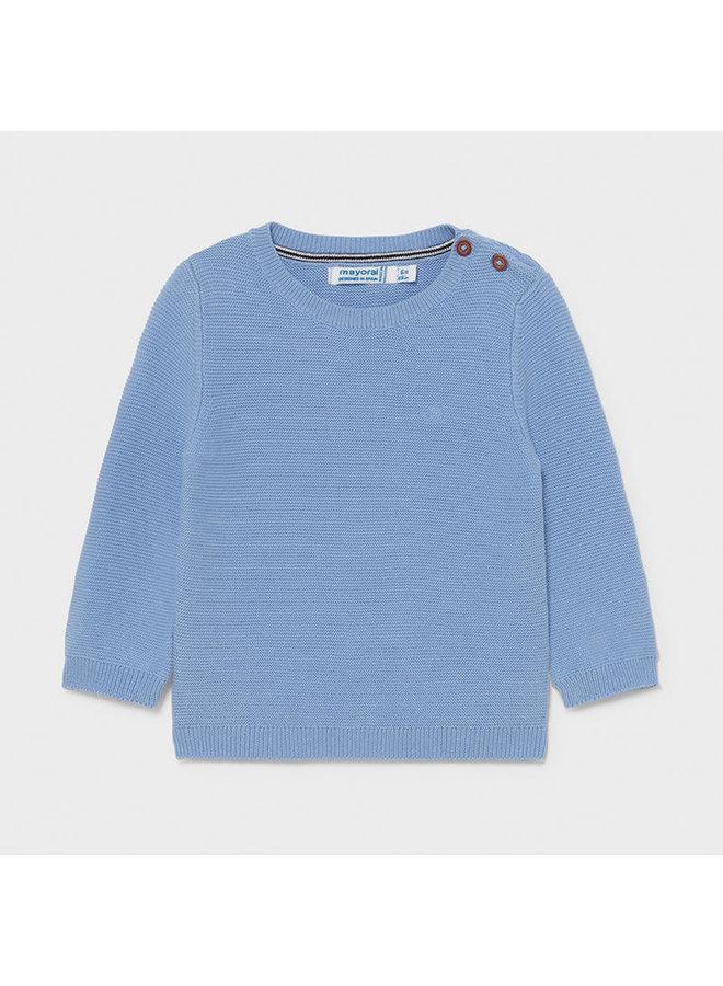 Basic cotton sweater Lavender